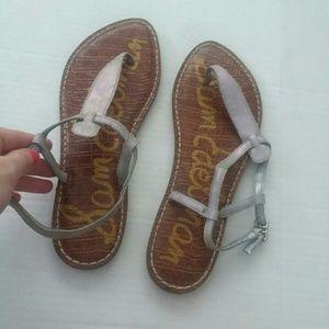Sam Edelman Silver Gigi Thong Sandal Size 7